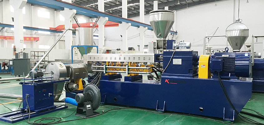 double-stage compounding and extrusion line